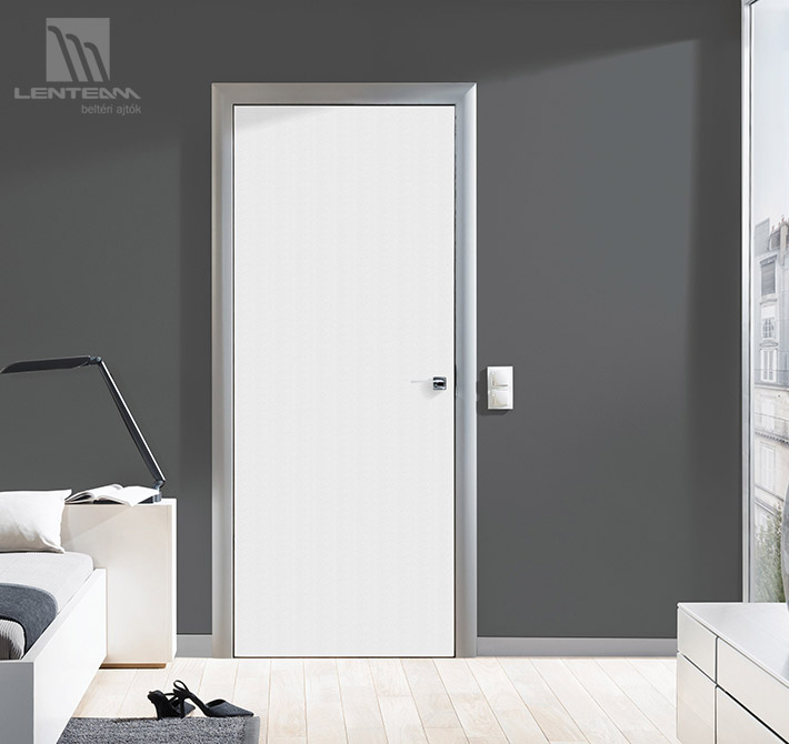 Lenteam beltéri ajtó White and Color lakkozott fehér grafit tok