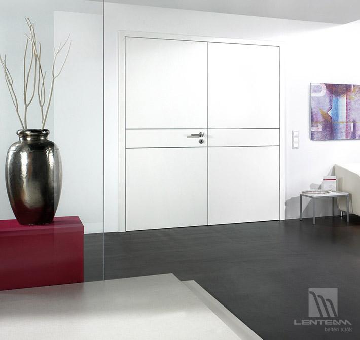 Lenteam beltéri ajtó kétszárnyú ajtó White Metal 127 lakkozott fehér